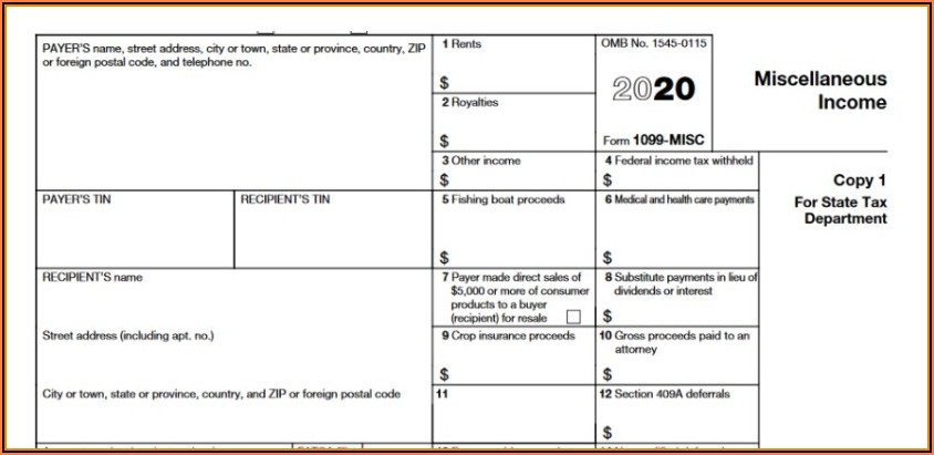 Printable 1099 Misc Form