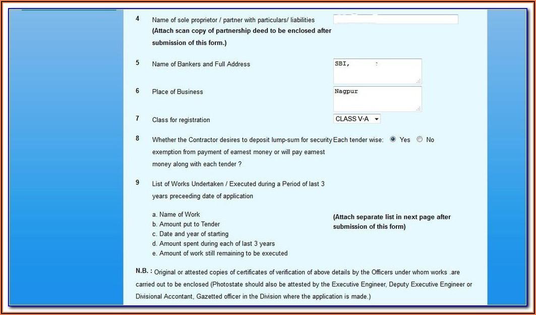 Pwd Contractor Registration Form Kerala