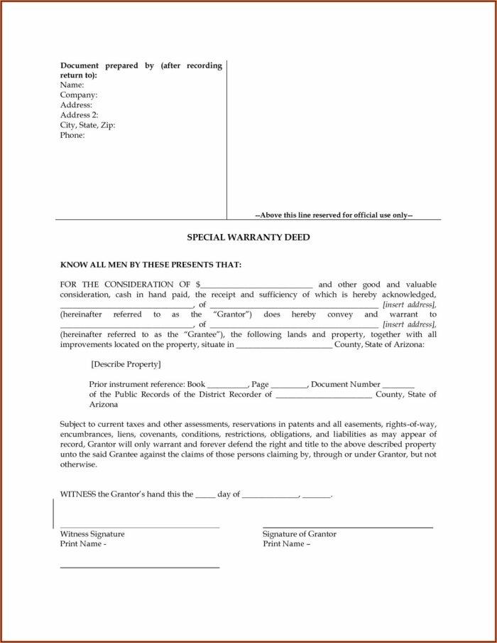 Quitclaim Deed Az Form
