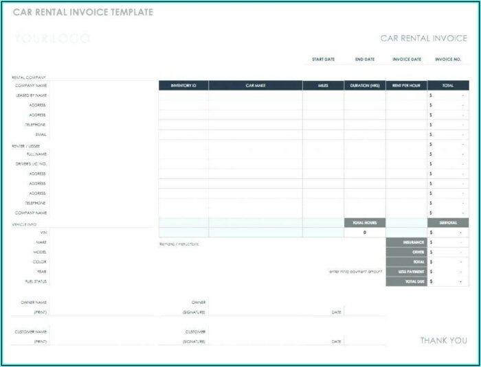 Reimbursement Invoice Format