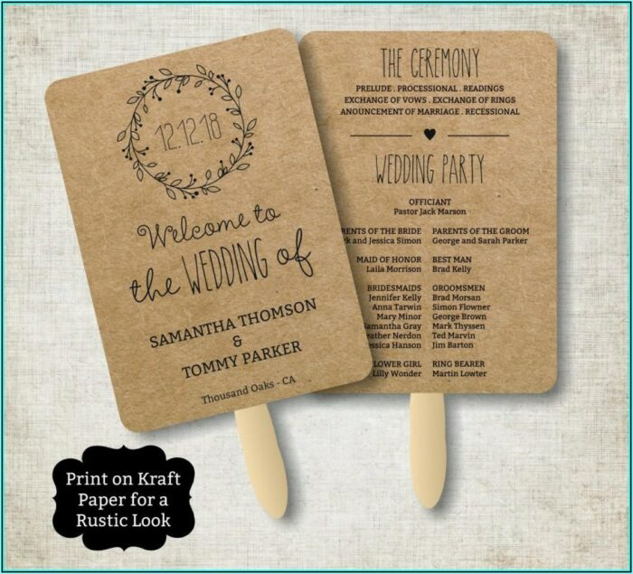 Rustic Wedding Program Templates