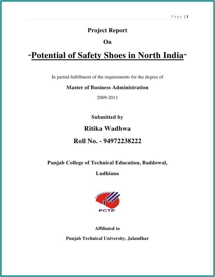 Safety Shoe Program Template