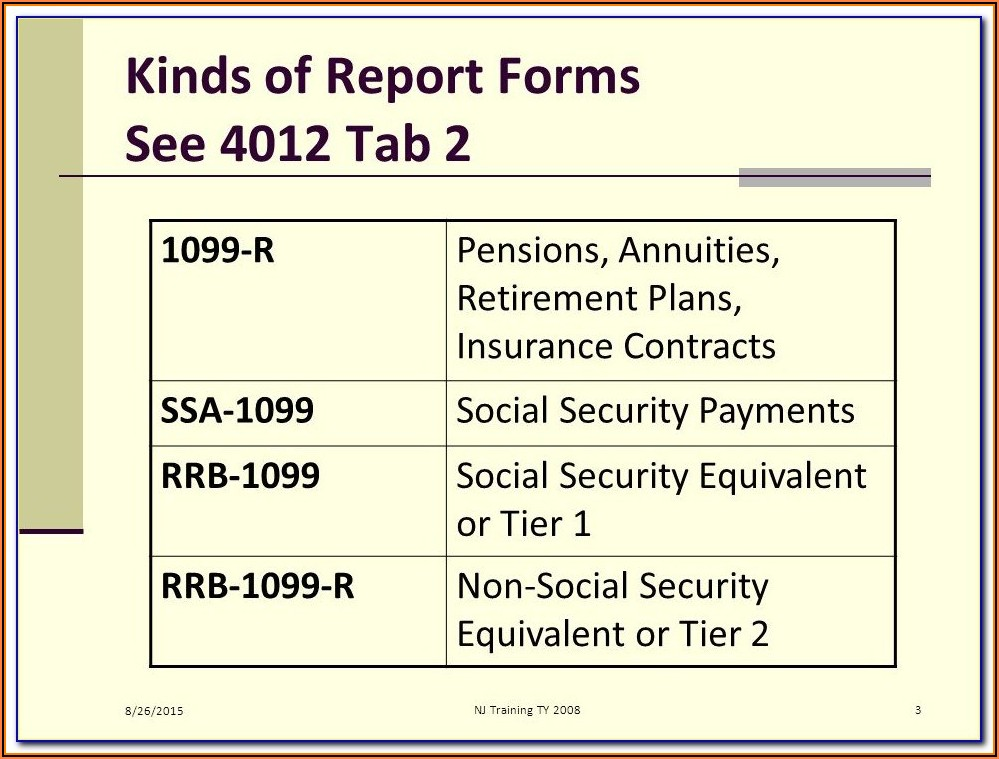 Social Security 1099 Form 2018