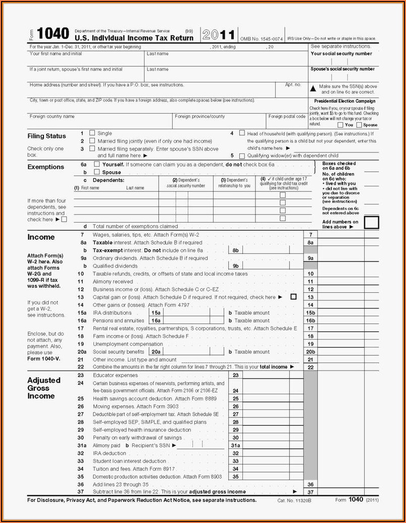 Where Can I Get A 1040ez Form 2017