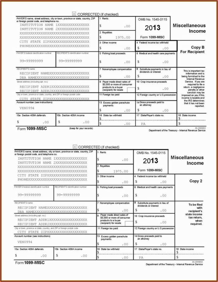 Where To Send 1099 Misc Forms In Pa
