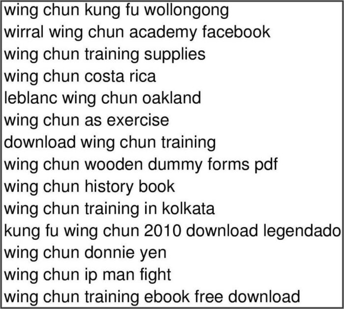 Wing Chun Wooden Dummy Form Step By Step Pdf