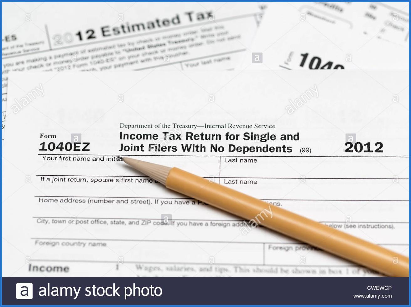 1040ez 2012 Tax Form