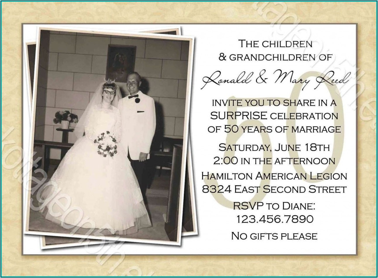 50th Wedding Anniversary Templates Free