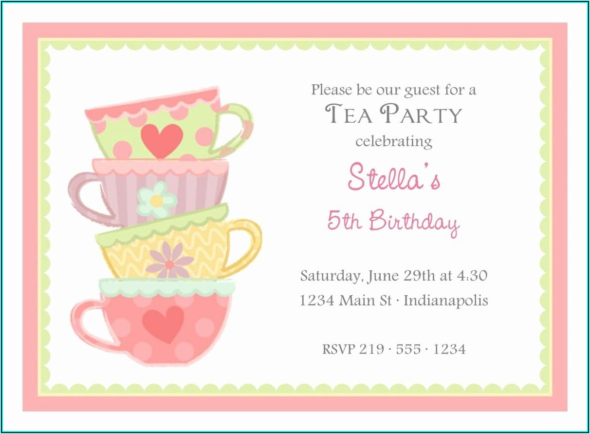 Afternoon Tea Party Invite Template