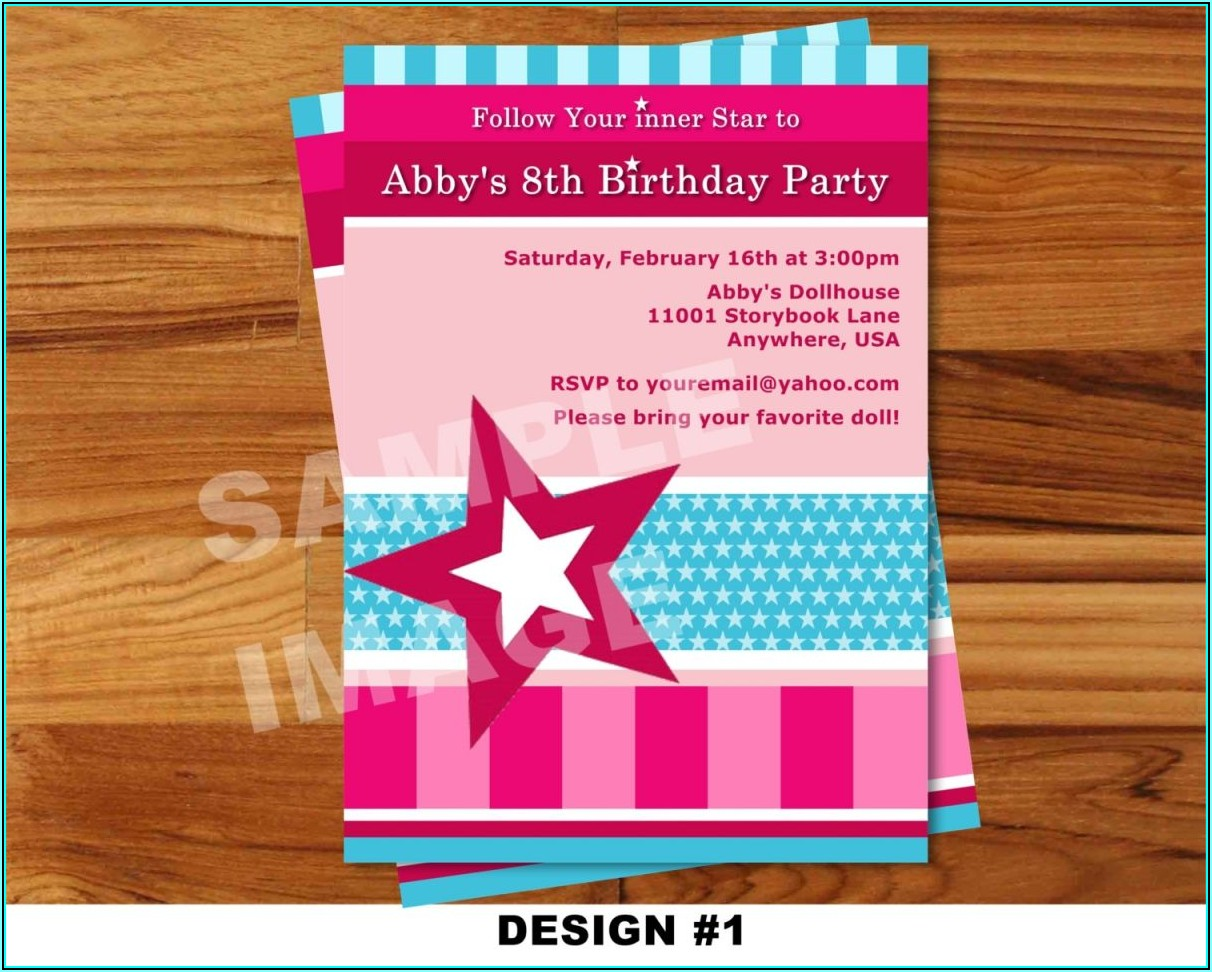 American Girl Birthday Invitation Templates Free