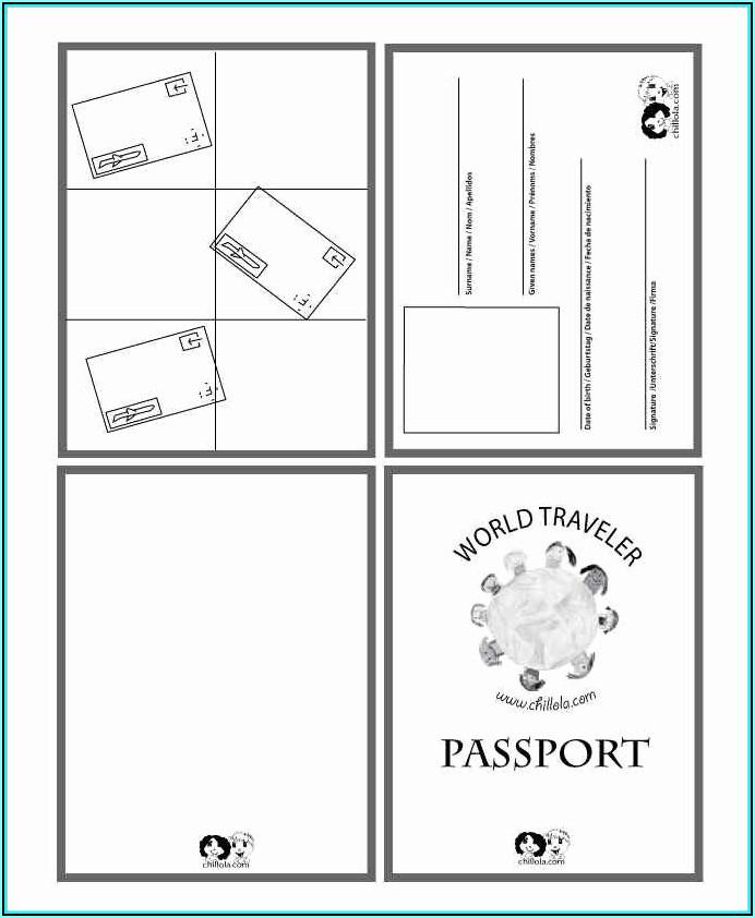 Blank Passport Invitation Template Free