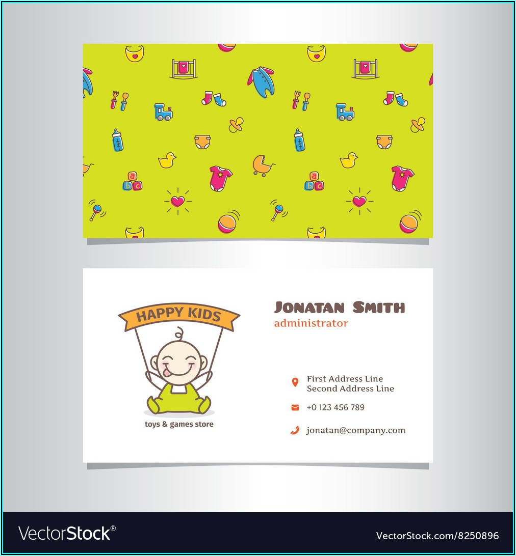 Cute Business Card Free Template