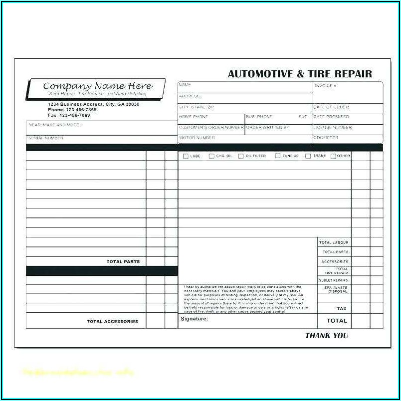 Design Invoice Template Word