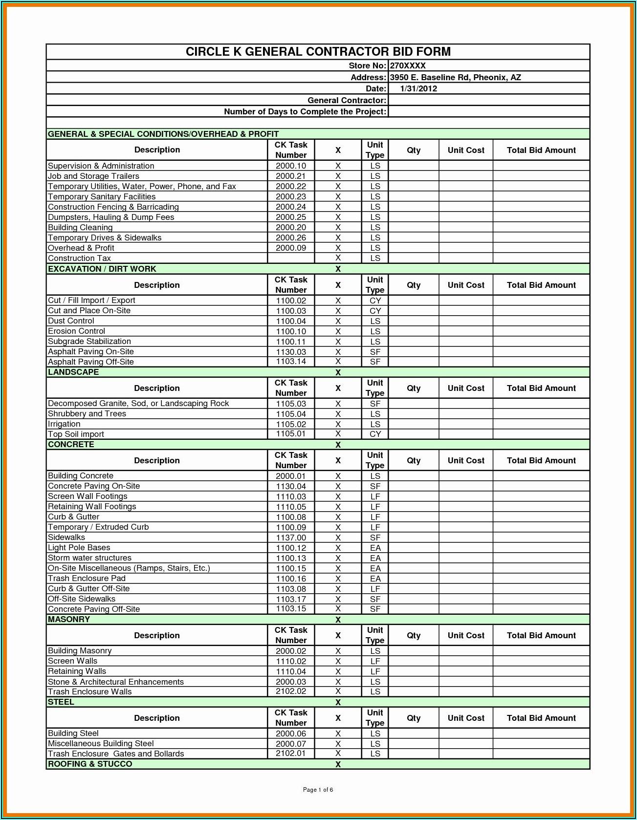 Electrical Bid Proposal Sample