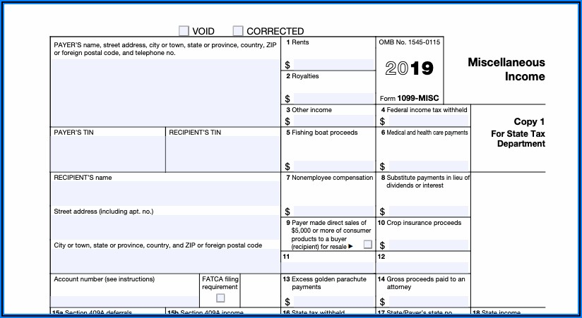 Filling Out A 1099 Tax Form