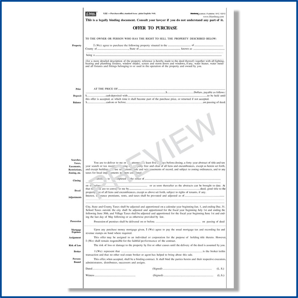 Florida Bar Commercial Real Estate Contract Form