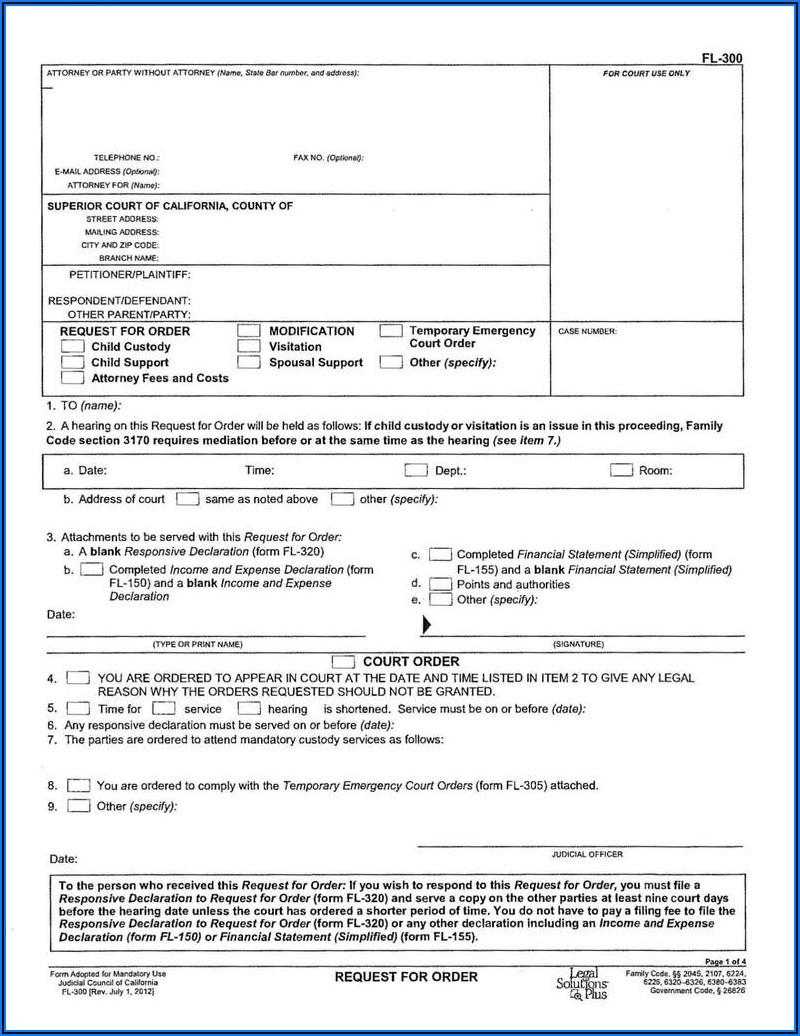 Florida Divorce Forms Free