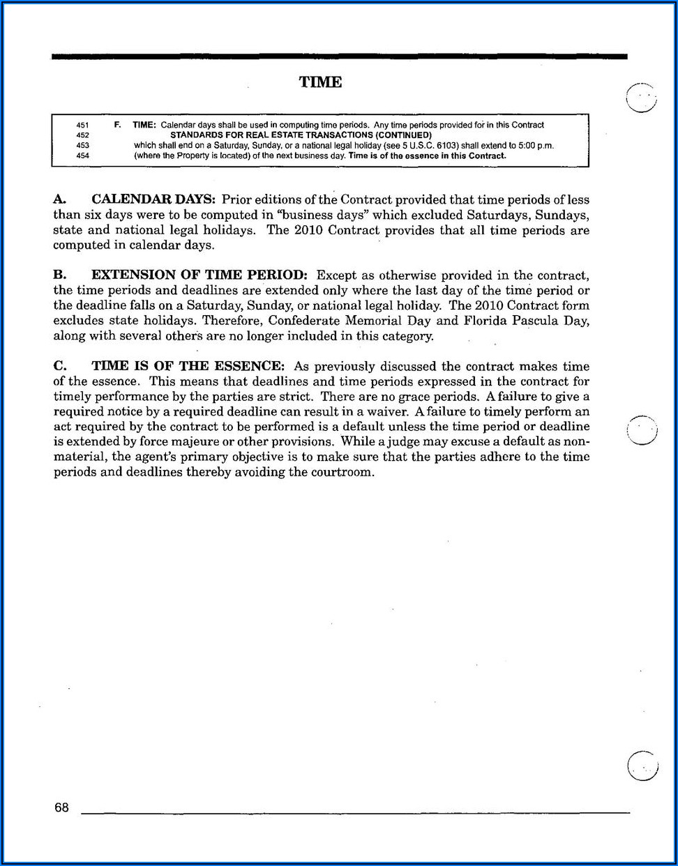 Florida Real Estate Contract Extension Form