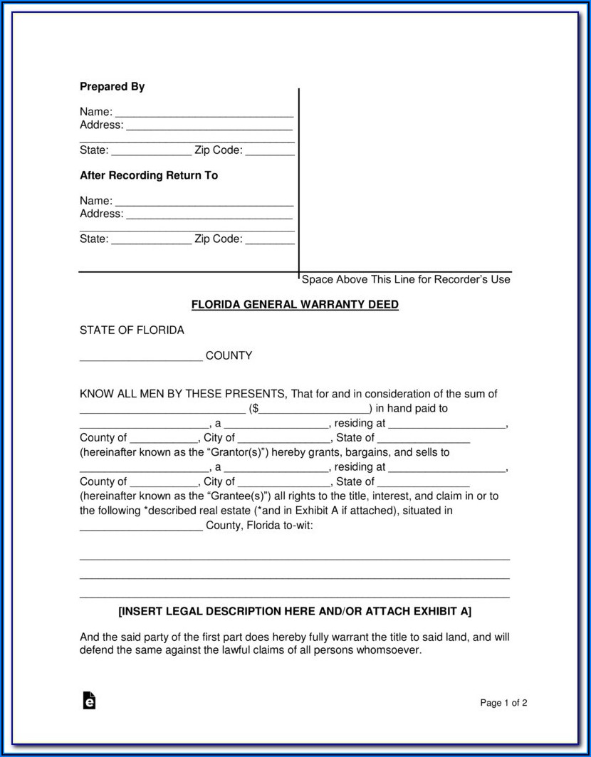Florida Real Estate Contract Sample