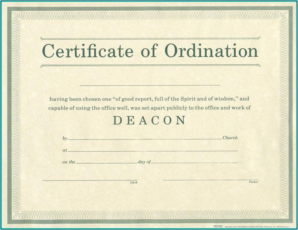 Free Deacon Ordination Certificate Template