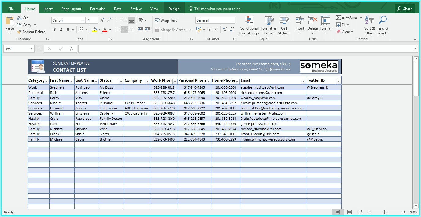 Free Excel Membership Database Templates