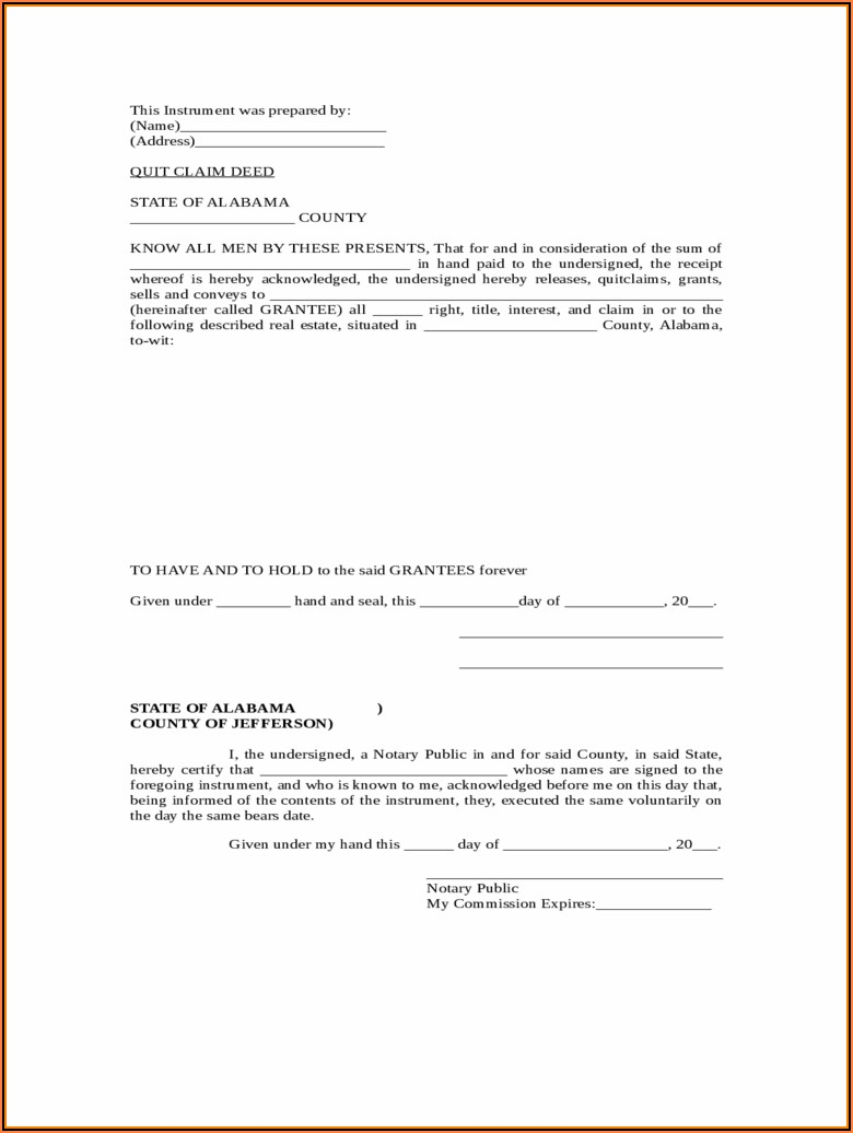 Free Nebraska Quit Claim Deed Form