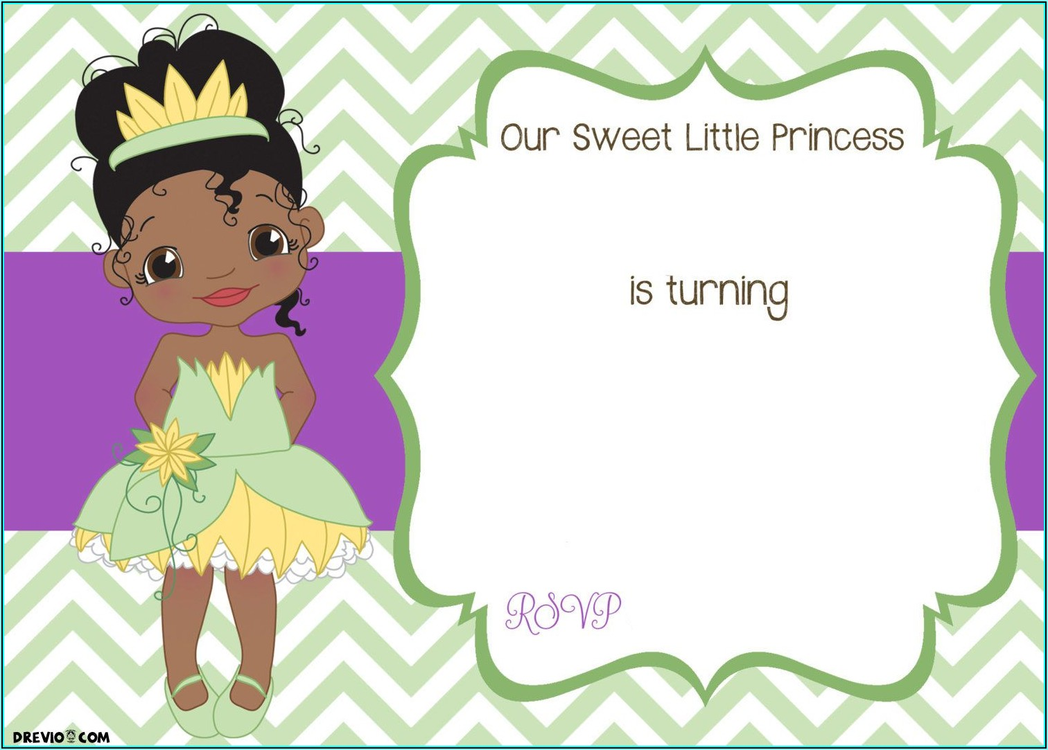 Free Princess And The Frog Invitation Template