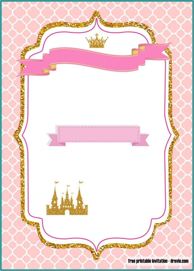 Free Princess Invitation Template