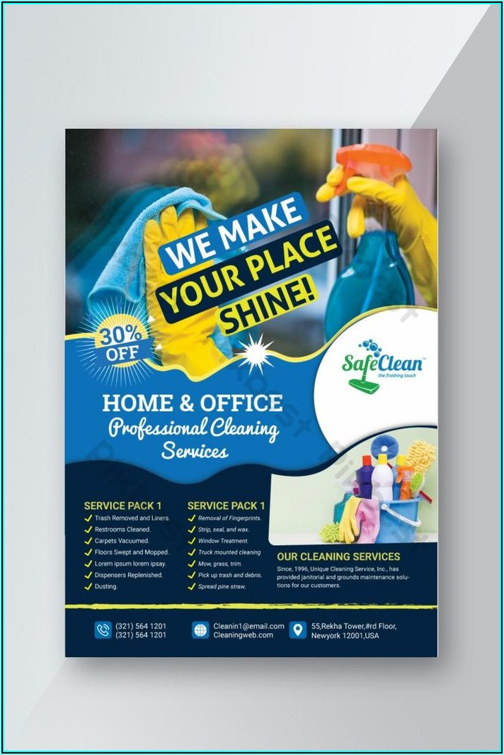 Free Templates For Cleaning Business Flyers