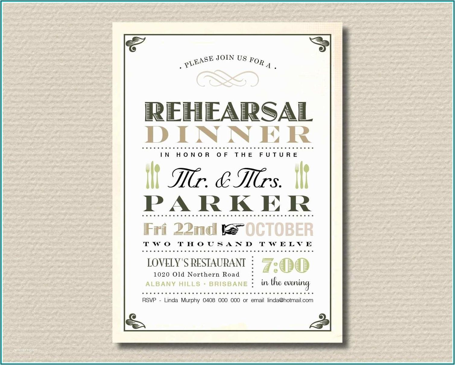 Free Wedding Rehearsal Dinner Invitation Templates