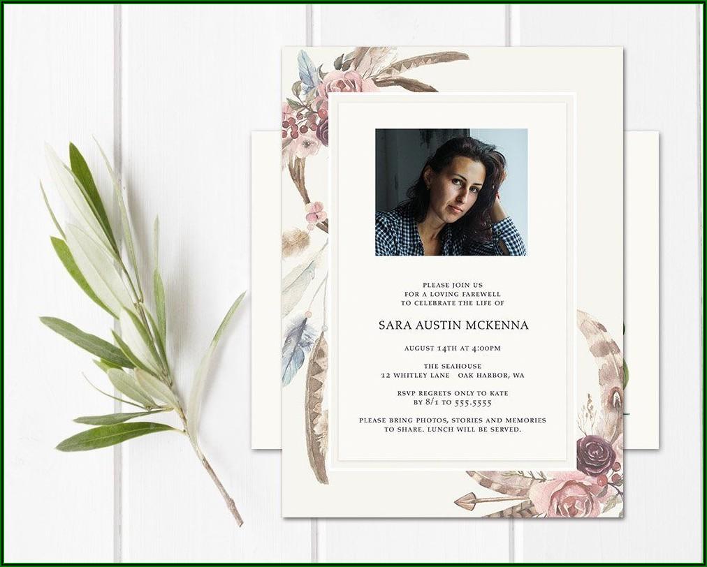 Funeral Service Invitation Templates