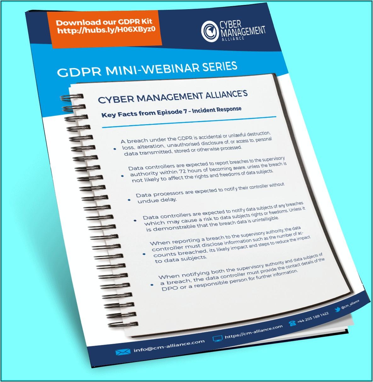 Gdpr Data Breach Incident Response Plan Template