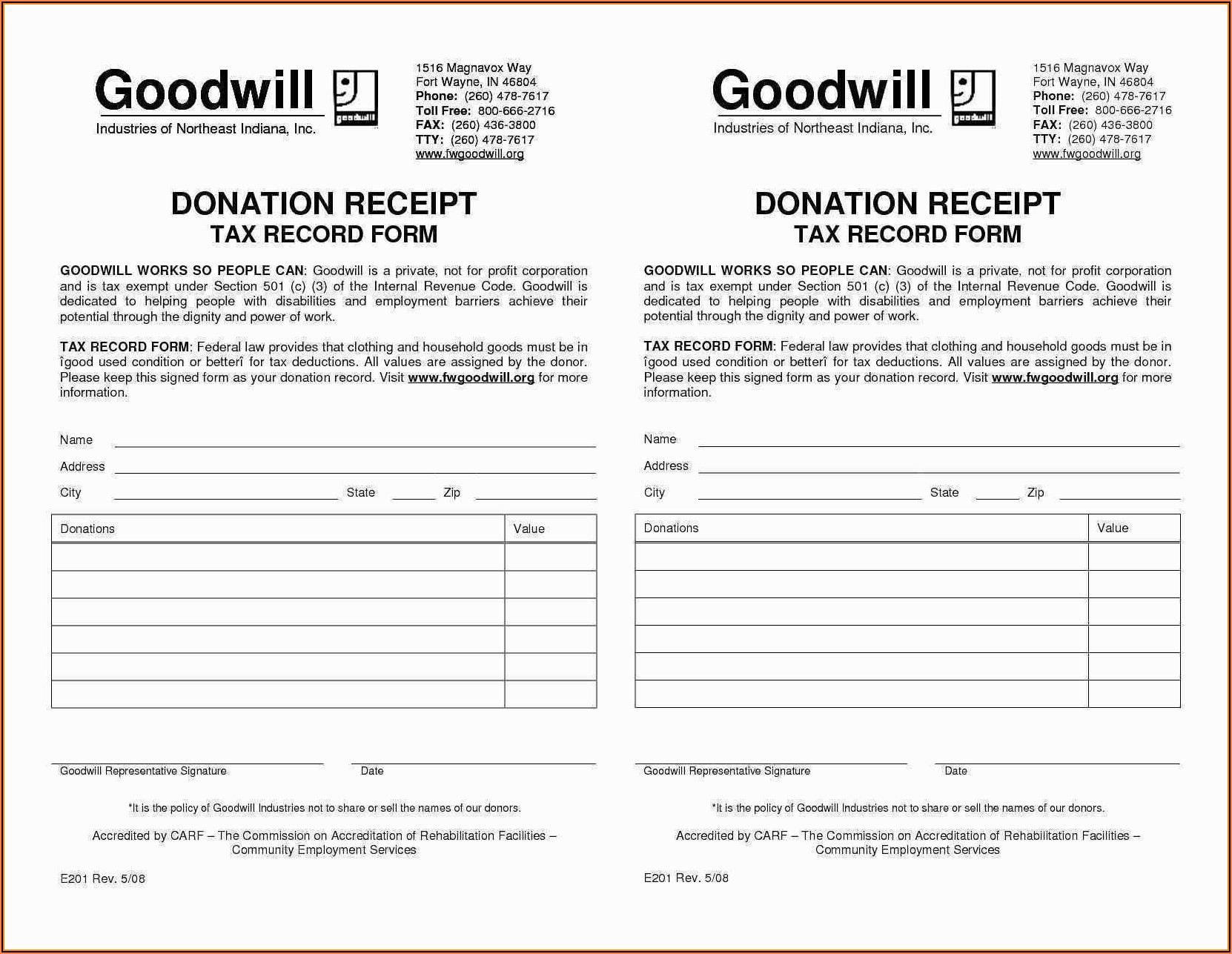 Goodwill Donation Forms Online