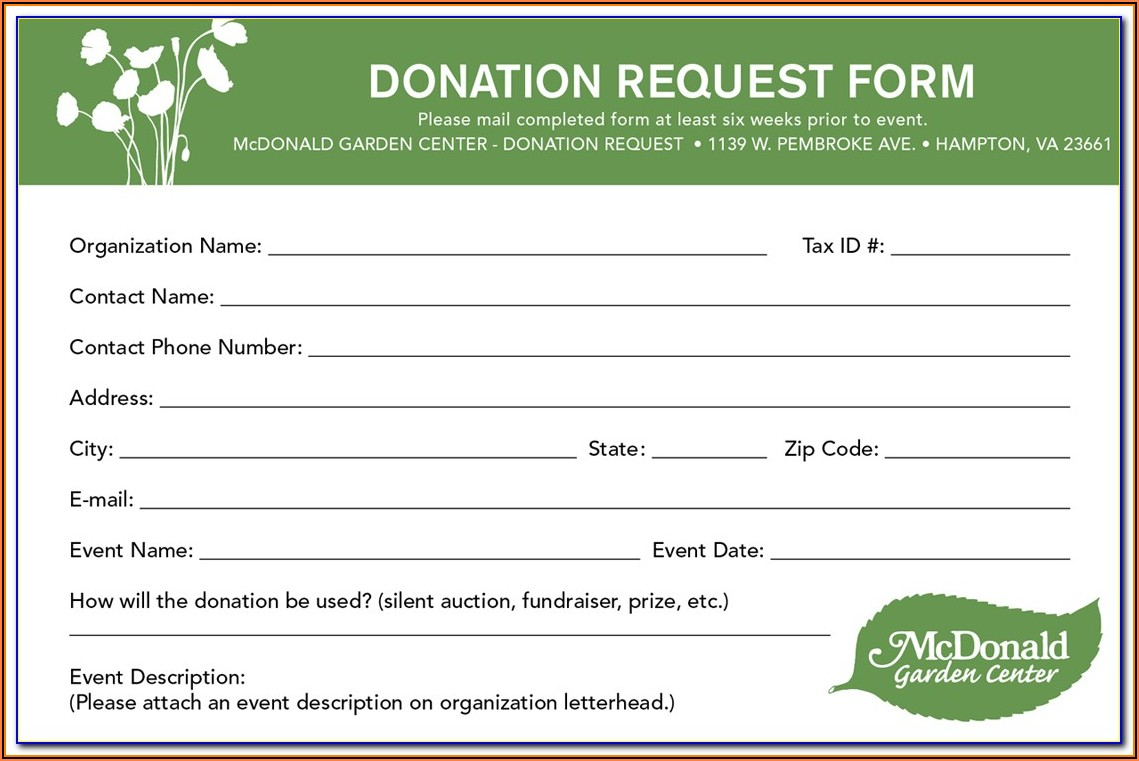 Goodwill Donation Forms