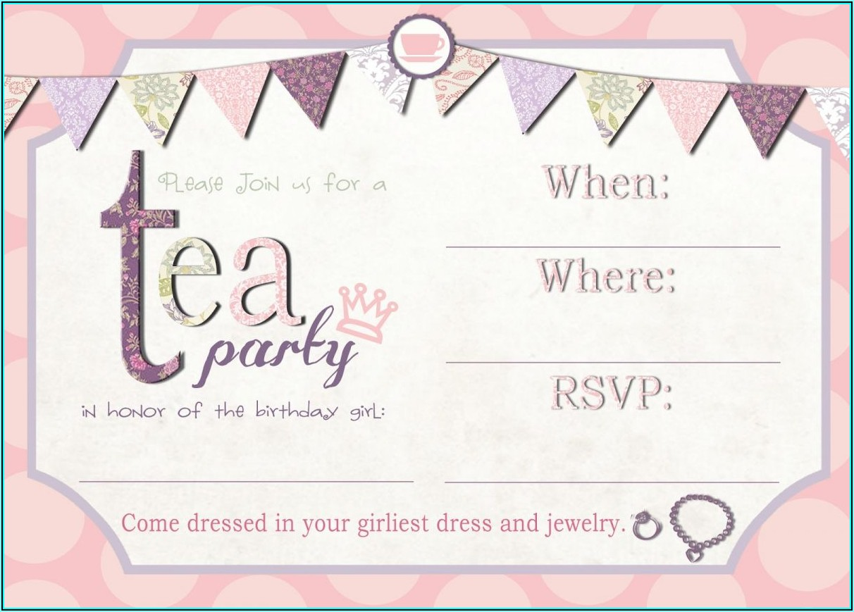 High Tea Party Invite Template