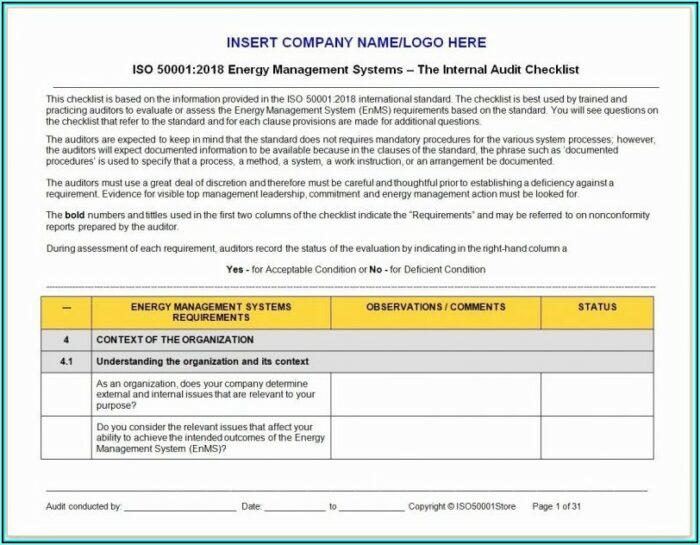 Internal Audit Risk Assessment Template For Banks