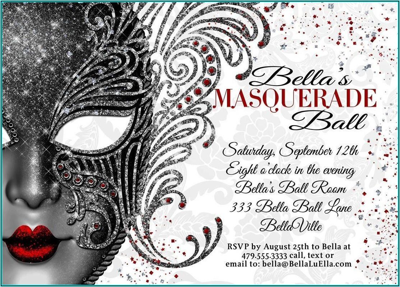 Masquerade Ball Invitations Template