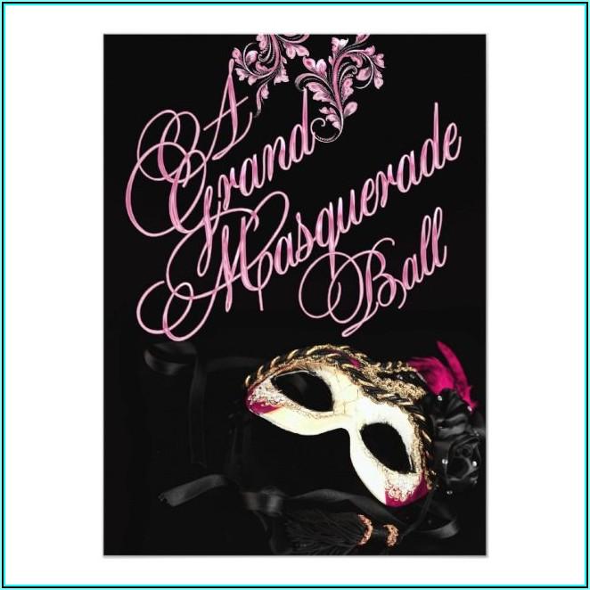 Masquerade Theme Invitation Template
