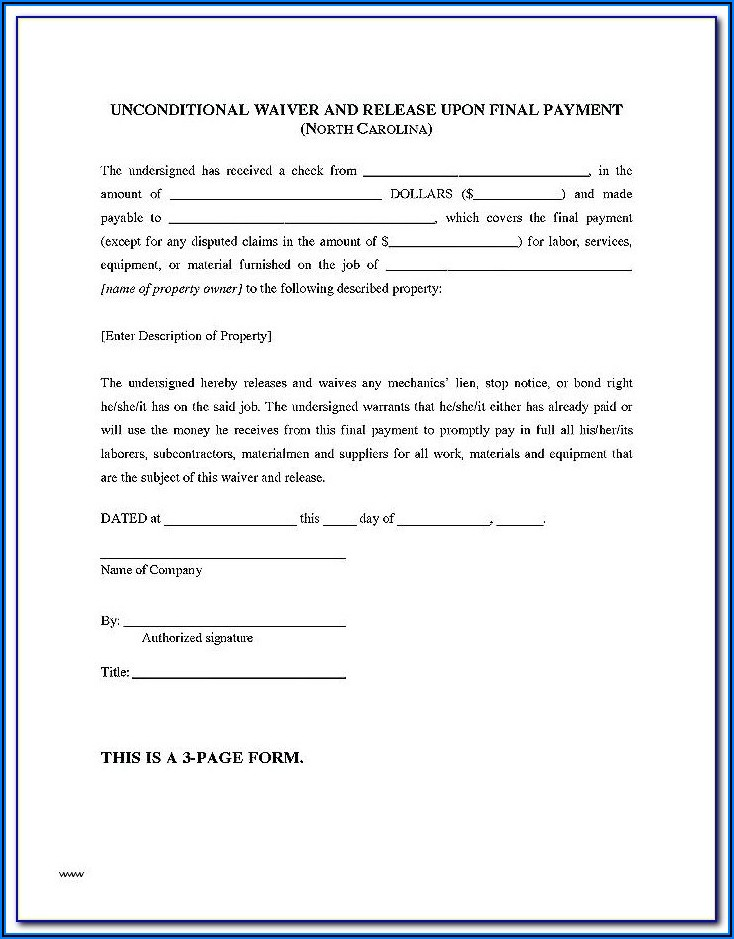 Notice Of Intent To Lien Form California