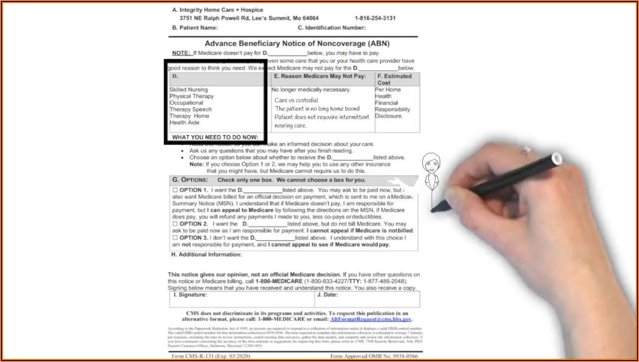 Notice Of Medicare Non Coverage Form Hospice