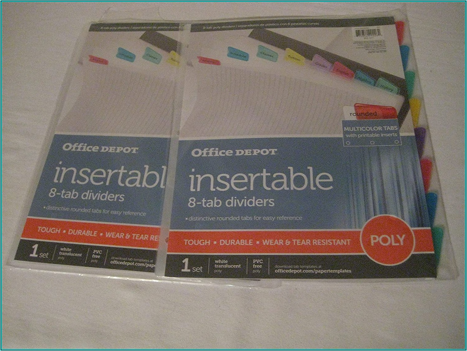 Office Depot Templates For Dividers