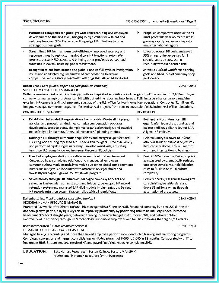 Opm Resume Template