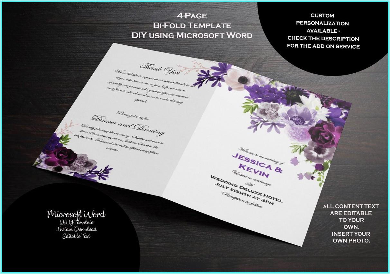 Purple Wedding Program Template