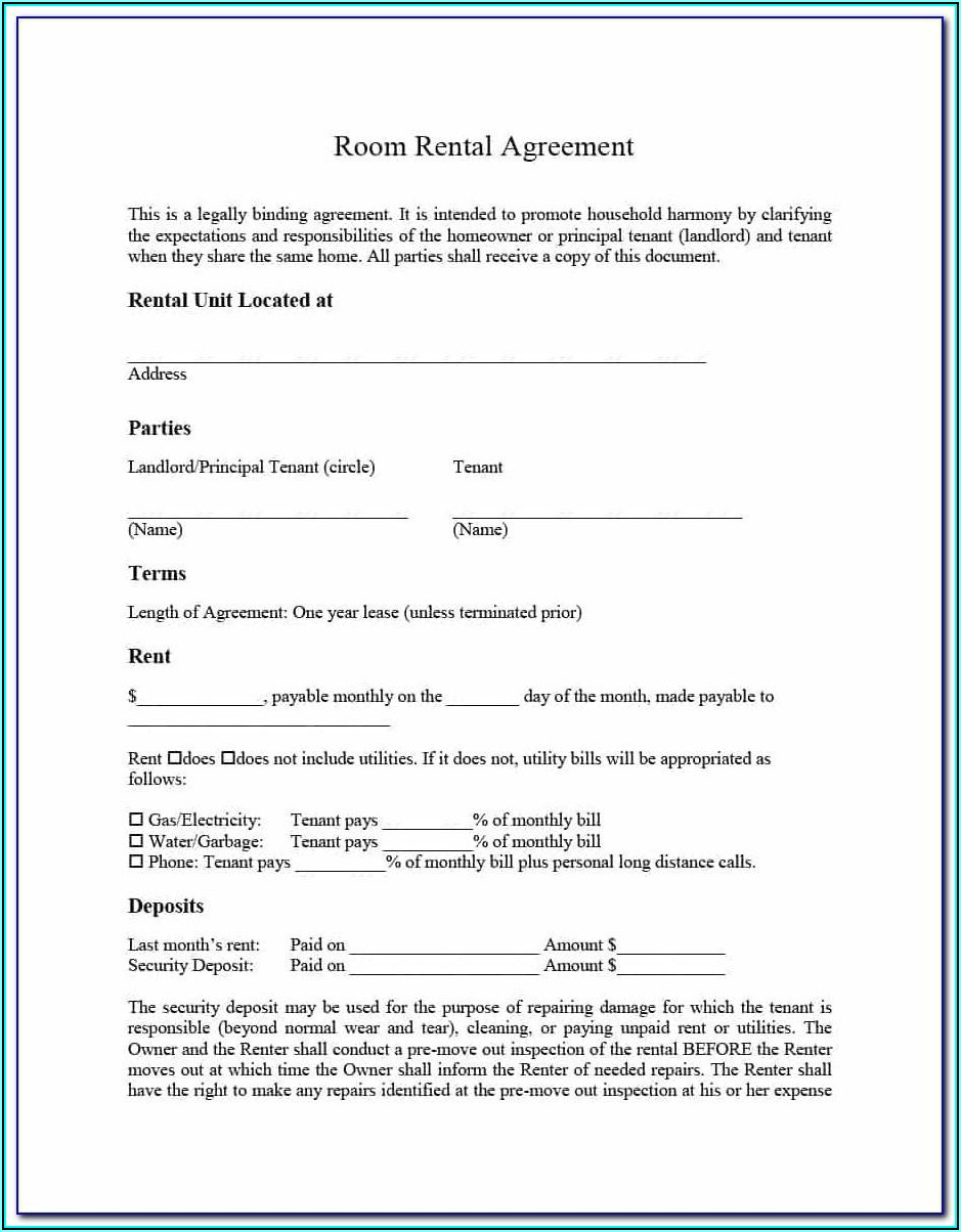 Rent Lease Template