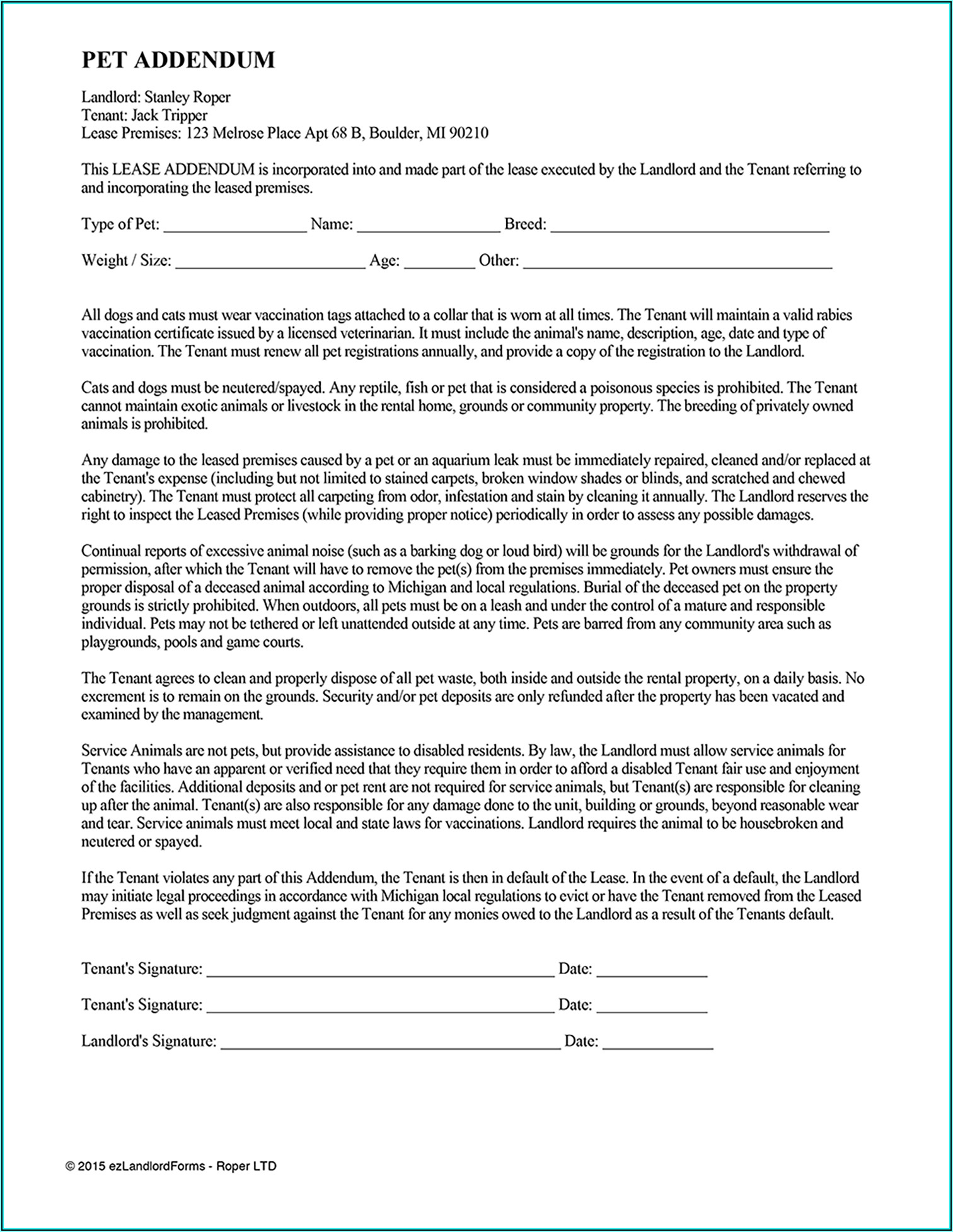 Residential Lease Agreement Forms