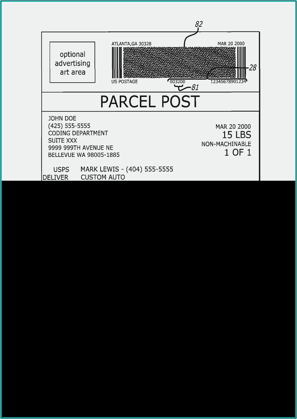 Shipping Address Labels Template