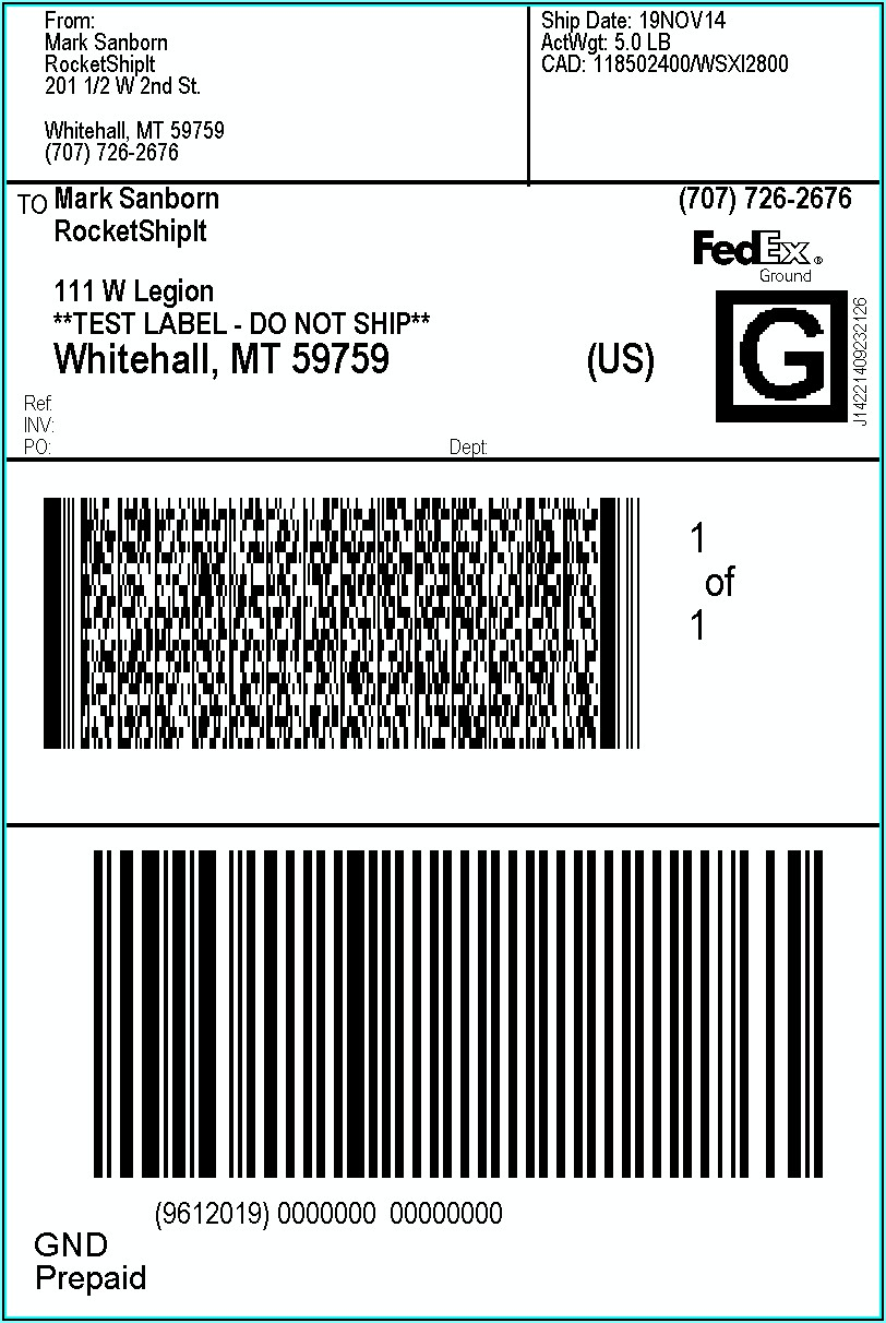 Shipping Label Address Format