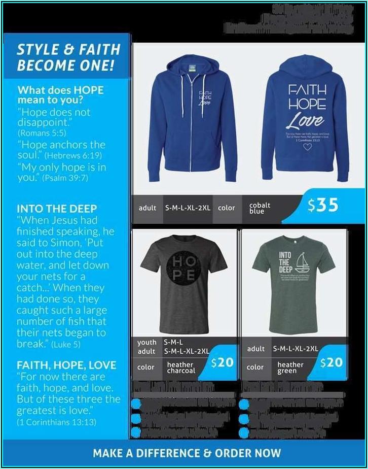 T Shirt Fundraiser Flyer Template