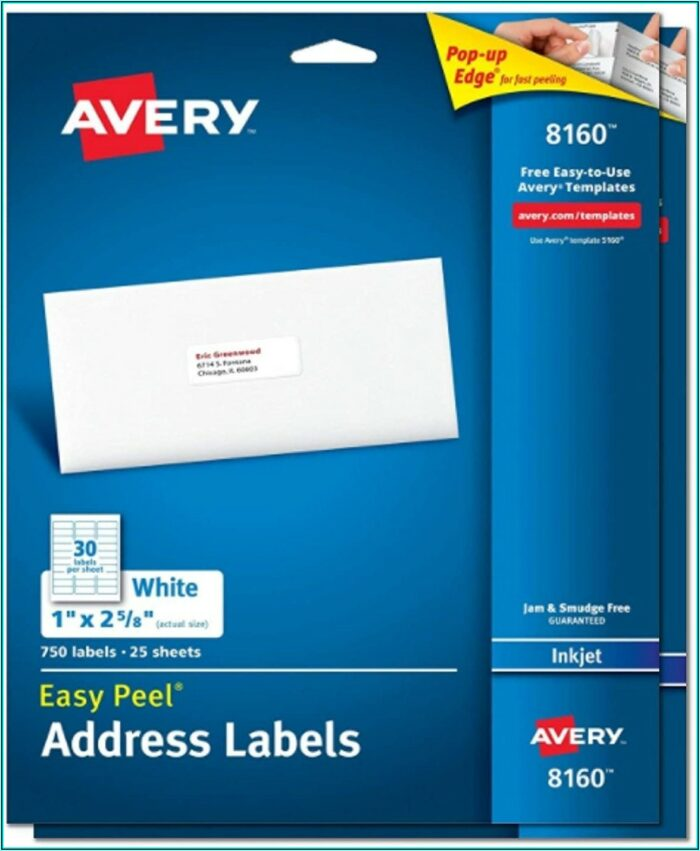 Template For Address Labels 1 X 2 58