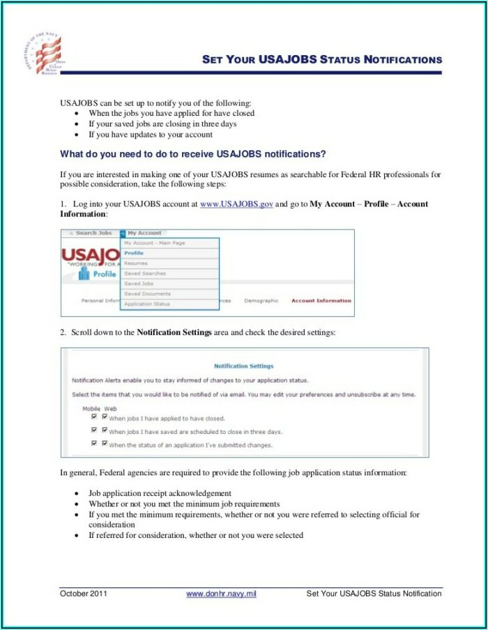 Usajobs.gov Resume Template